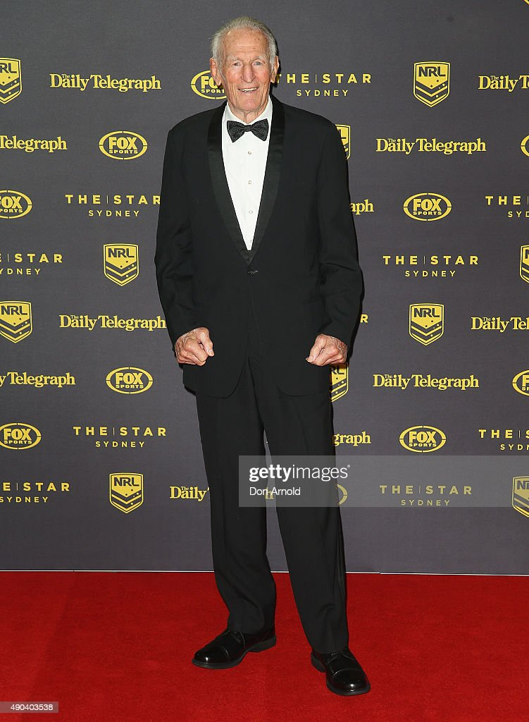 Norm Provan arrives at the 2015 Dally M Awards at Star City on September 28, 2015 in Sydney, Australia.
