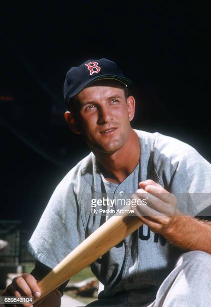 Norm Zauchin of the Boston Red Sox poses for a portrait with his bat during Spring Training circa March 1956 in Florida