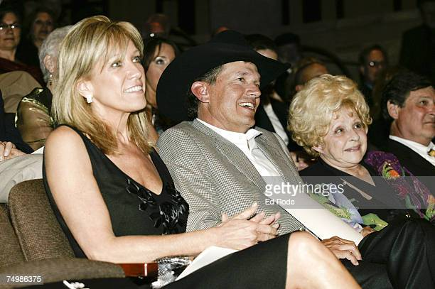 Norma and George Strait and Brenda Lee during the 2007 Country Music Hall of Fame Medallion Ceremony