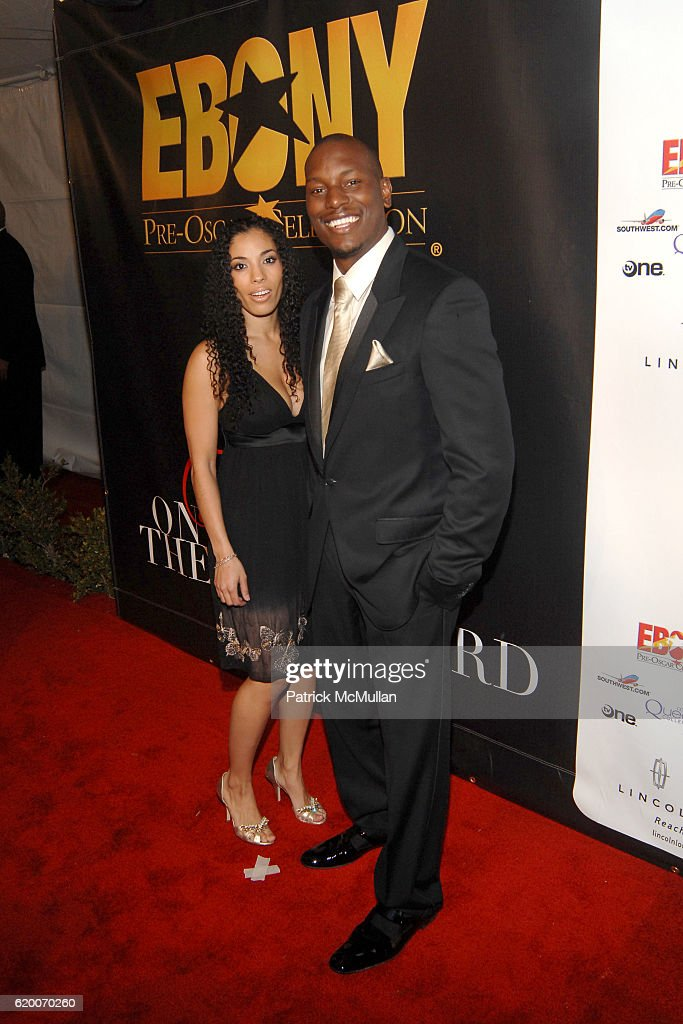 Norma and Tyrese Gibson attend EBONY Magazine Pre Oscar Celebration at Boulevard 3 on February 21, 2008.