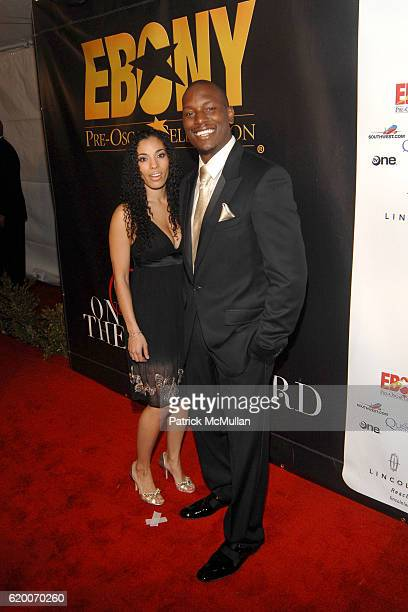 Norma and Tyrese Gibson attend EBONY Magazine Pre Oscar Celebration at Boulevard 3 on February 21 2008