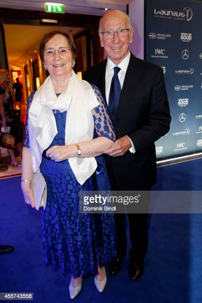 Norma Charlton and Bobby Charlton attend the Laureus Sport for Good Night 2014 at Bayerischer Hof on September 19 2014 in Munich Germany