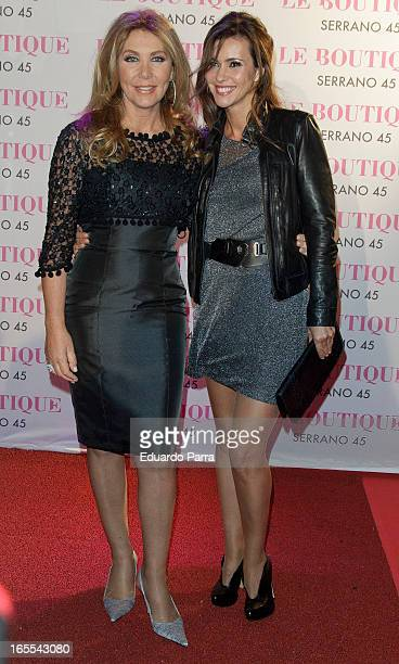 Norma Duval and Arancha del Sol attend the photocall for the birthday party of Norma Duval at Le Boutique disco on April 4, 2013 in Madrid, Spain.