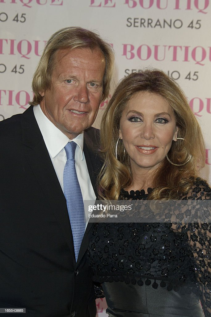 Norma Duval and Mathias Khun attends the photocall for the birthday party of Norma Duval at Le Boutique on April 4, 2013 in Madrid, Spain.