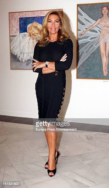 Norma Duval attends the painting exhibition of Carla Duval at Casa de Vacas on September 5 2012 in Madrid Spain