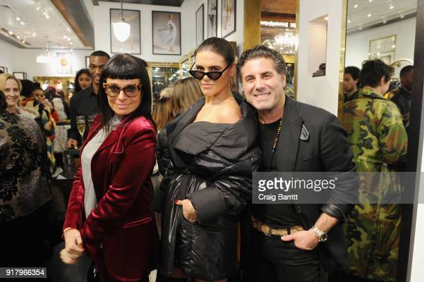 Norma Kamali Madeline Dinda and Gerard Maione attend Vintage For The Future A Norma Kamali Retrospective by What Goes Around Comes Around on February...