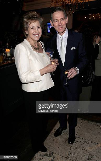 Norma Major and Anthony Andrews attend an after party celebrating the press night performance of the Menier Chocolate Factory's 'Merrily We Roll...