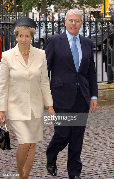 Norma Major and John Major during Memorial Service for Lord Callaghan at Westminster Abbey in London Great Britain