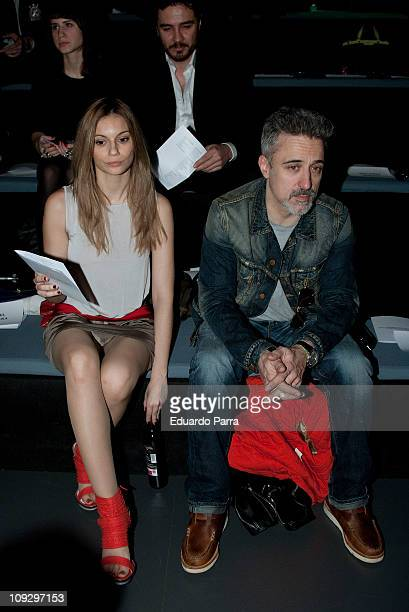 Norma Ruiz and Sergi Arola attends the Agatha Ruiz de la Prada fashion show during the Cibeles Madrid Fashion Week A/W 2011 at Ifema on February 19...