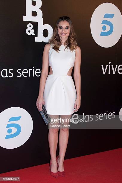 Norma Ruiz attends the 'BB' Madrid Premiere at Cinema Capitol on February 17 2014 in Madrid Spain