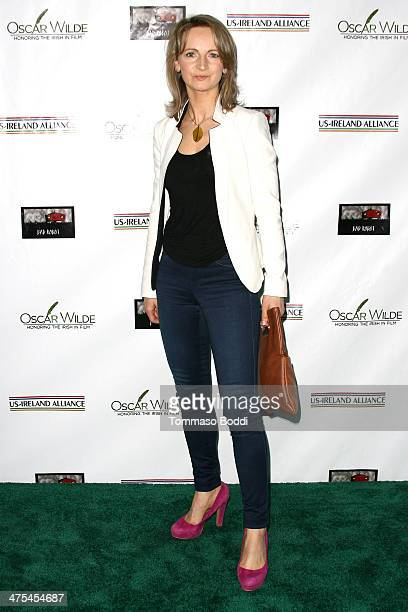 Norma Sheahan attends the USIreland alliance preAcademy Awards event held at Bad Robot on February 27 2014 in Santa Monica California