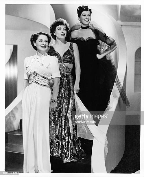 Norma Shearer Joan Crawford and Rosalind Russell publicity portrait for the film 'The Women' 1939