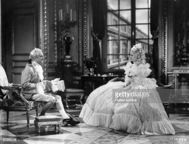 Norma Shearer plays the heroine of the film 'Marie Antoinette' a story about the last days of the French court before the revolution The film was...