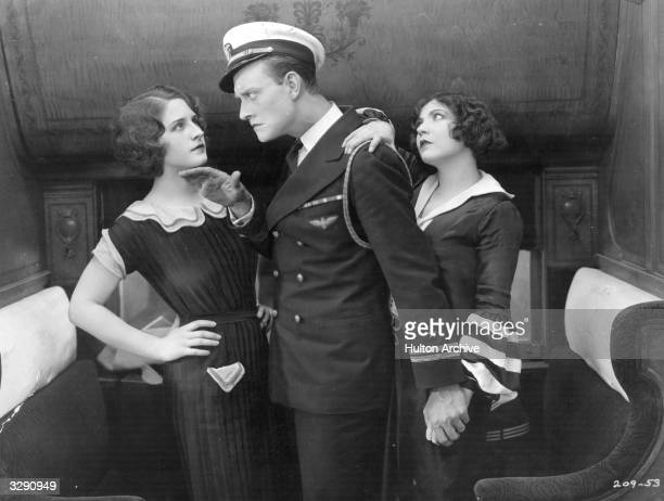 Norma Shearer Renee Adoree and Conrad Nagel star in the silent farce 'Excuse Me' directed by Alfred J Goulding for MGM