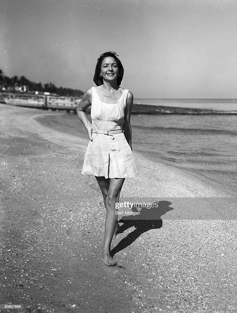 Norma Talmadge at the Sea Spray Beach Club in Palm Beach, Florida