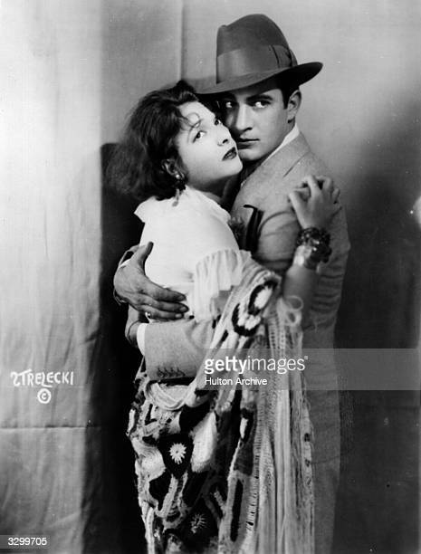 Norma Talmadge the American silent heroine and Gilbert Roland formerly Luis Antonio Damasco De Alonso the Mexican leading man in an emotional scene...