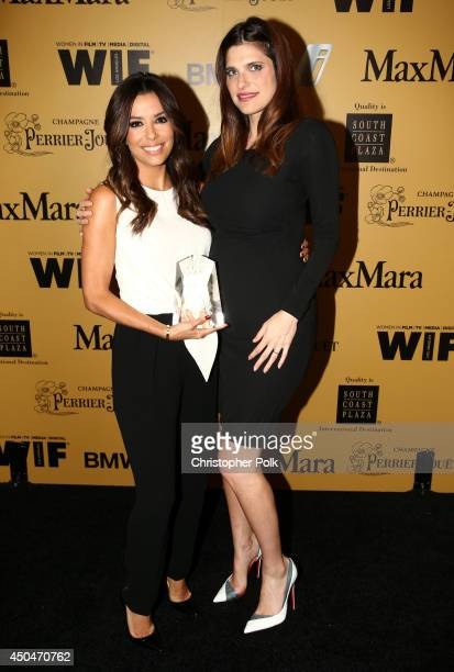 Norma Zarky Humanitarian Award recipient Eva Longoria and actress/director Lake Bell attend Women In Film 2014 Crystal Lucy Awards presented by...