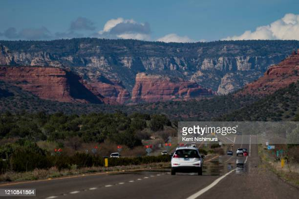 Normally streaming with traffic Arizona State Route 89A which heads directly into Sedona sees a traffic trickle down the route with Sedonas iconic...