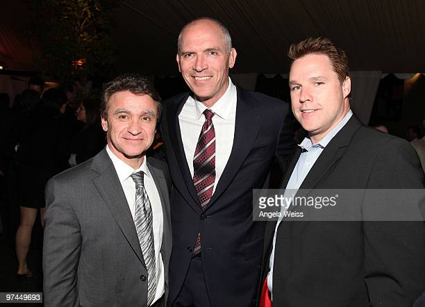 Norman Aladaef Joe Drake and David Guillod attend The Hollywood Reporter's and the Mayor of Los Angeles' Oscar Nominees' Night presented by Bing and...