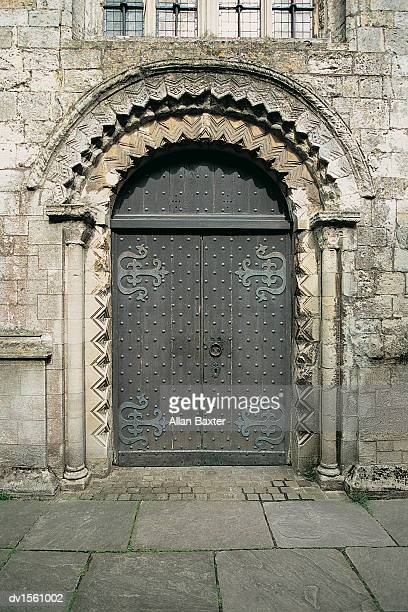 Norman Arch, St Mary's Church, Wiltshire, UK