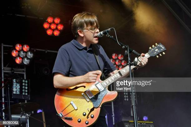 Norman Blake of Teenage Fanclub performs on stage on the first day of Ben Jerry's Sundae on the Common at Clapham Common on July 25 2009 in London...