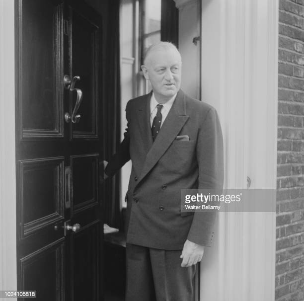 Norman Brook 1st Baron Normanbrook former Cabinet Secretary and Head of the Civil Service pictured leaving a building in London on 27th September 1963