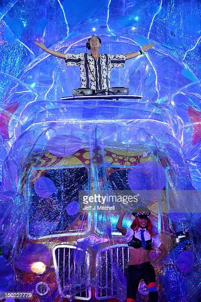 Norman Cook aka Fatboy Slim performs during the Closing Ceremony on Day 16 of the London 2012 Olympic Games at Olympic Stadium on August 12 2012 in...