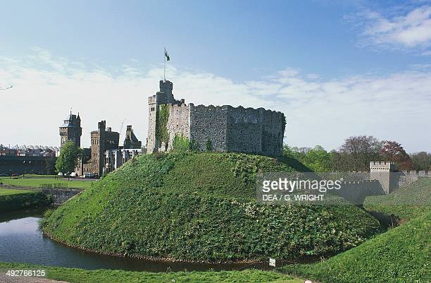Norman fortress Cardiff castle Wales United Kingdom