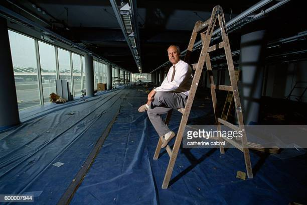 Norman Foster for the series Le ventre de l'architecte by photographer Catherine Cabrol