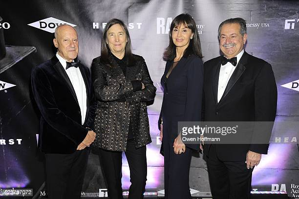 Norman Foster Jenny Holzer Paula Liveris and Andrew Liveris attend Royal Academy America Gala Honoring Norman Foster and Jenny Holzer at Hearst Tower...
