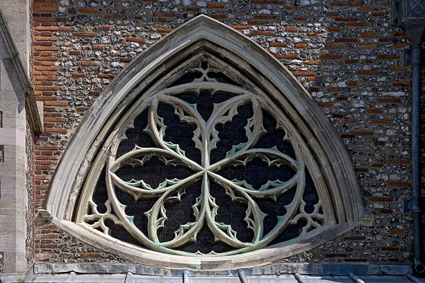 Norman Gothic Style Rose Window