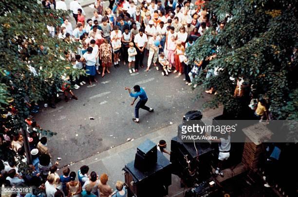 Norman Jay's Good Times sound-system Notting Hill Carnival London UK 1984.