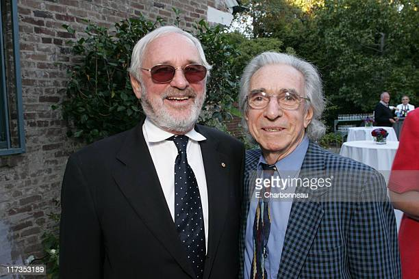 Norman Jewison and Arthur Hiller during Norman Jewison Book Signing Hosted by Alain Dudoit, Consul General of Canada at Canadian Residence in Los...