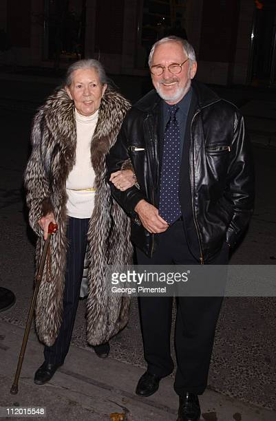 "Norman Jewison and his wife during ""The Statement"" After Party at Windsor Arms Hotel in Toronto, Ontario, Canada."