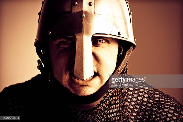 Norman Knight Helmet and Chain mail armour