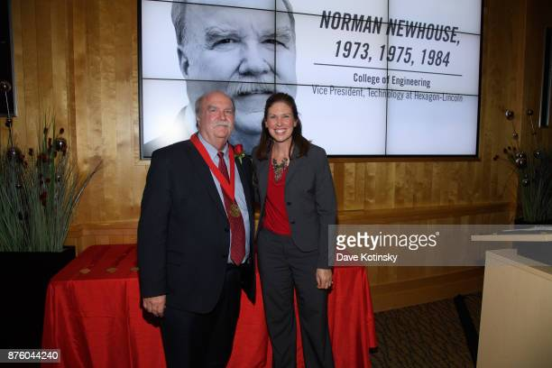 Norman L Newhouse Vice President of Technology at HexagonLincoln and Shelley Zaborowski Nebraska Alumni Association Executive Director on November 3...
