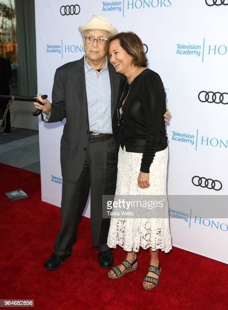 Norman Lear and daughter Maggie Lear attend the 11th Annual Television Academy Honors at NeueHouse Hollywood on May 31 2018 in Los Angeles California