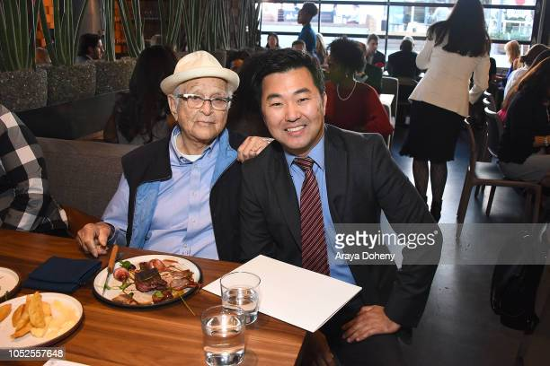 Norman Lear and David Ryu attend Communities In Schools LA 'Lunch With a Leader' on October 19 2018 in West Hollywood California
