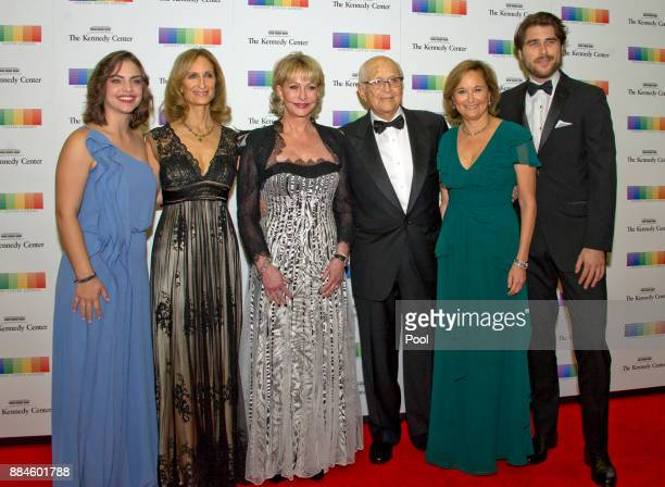 Norman Lear and his family arrive for the formal Artist's Dinner honoring the recipients of the 40th Annual Kennedy Center Honors hosted by United...