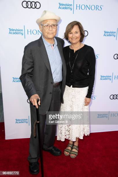Norman Lear and Maggie Lear attend the 11th Annual Television Academy Honors at NeueHouse Hollywood on May 31 2018 in Los Angeles California