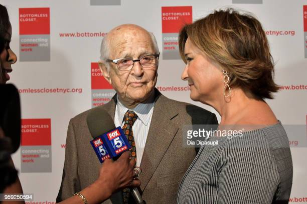 Norman Lear and Maggie Lear attend the Bottomless Closet's 19th Annual Spring Luncheon on May 16 2018 in New York City