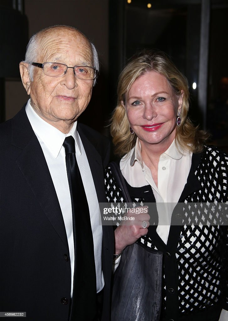 Norman Lear and wife Lyn Davis attend the Broadway Opening Night Performance After Party for 'It's Only A Play' at the Mariott Marquis on October 9, 2014 in New York City.