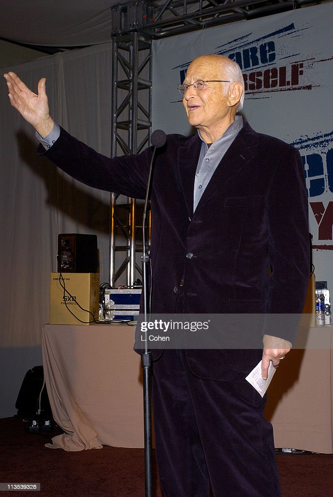 Norman Lear at the Declare Yourself 'Hollywood Celebrates Democracy' event on March 2. Declare Yourself is a national nonpartisan, nonprofit campaign to energize and empower a new movement of young voters to participate in the 2004, www.DeclareYourself.com