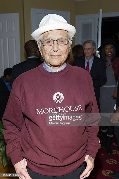 Norman Lear attends an intimate gathering in honor of him at Morehouse College on November 30 2015 in Atlanta Georgia
