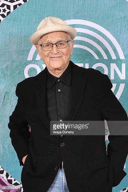 Norman Lear attends the Ovation 2016 Winter TCA Tour introducing three series featuring Rachel Hunter Reza Aslan Norman Lear And Yannick Bisson at...