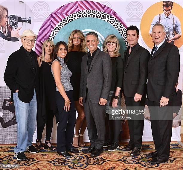 Norman Lear Bettina Hollings Liz Janneman Rachel Hunter Reza Aslan Christina Jennings Yannick Bisson and Scott Woodward attend the Ovation 2016...