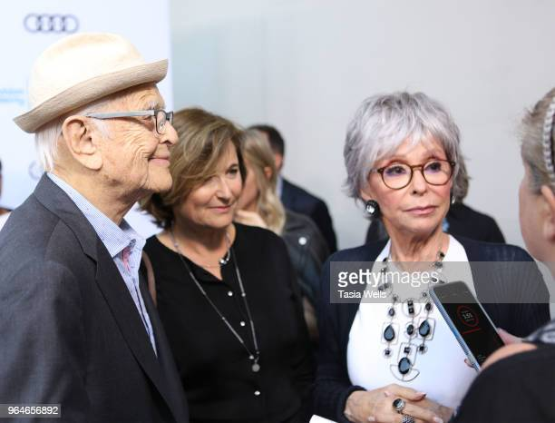 Norman Lear daughter Maggie Lear and Rita Moreno attend the 11th Annual Television Academy Honors at NeueHouse Hollywood on May 31 2018 in Los...