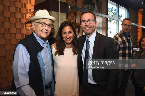 Norman Lear Deborah Marcus and Richard Lovett attend Communities In Schools LA Lunch With a Leader on October 19 2018 in West Hollywood California