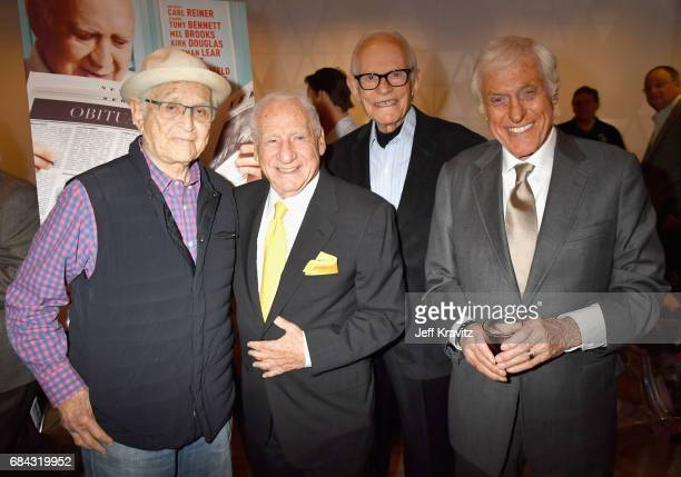 Norman Lear Mel Brooks Alan Bergman and Dick Van Dyke at the LA Premiere of If You're Not In The Obit Eat Breakfast from HBO Documentaries on May 17...