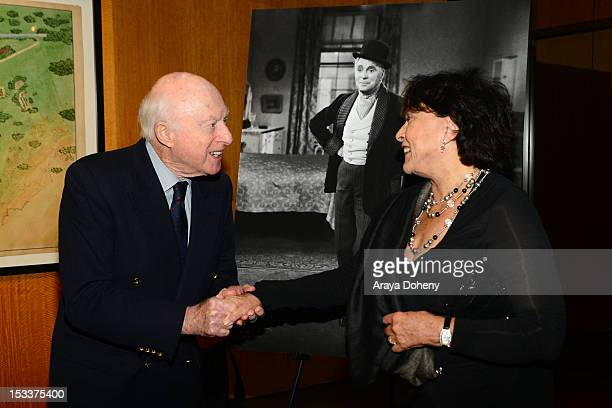 Norman Lloyd and Claire Bloom attend the Academy of Motion Picture Arts and Sciences presentation of the 60th anniversary of Chaplin's 'Limelight' at...